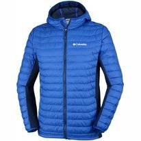 Jas Columbia Men Powder Lite Light Hooded Azul Collegiat